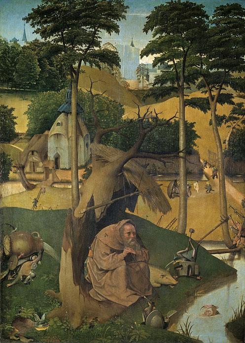 Искушение святого Антония - картина Иеронима Босха