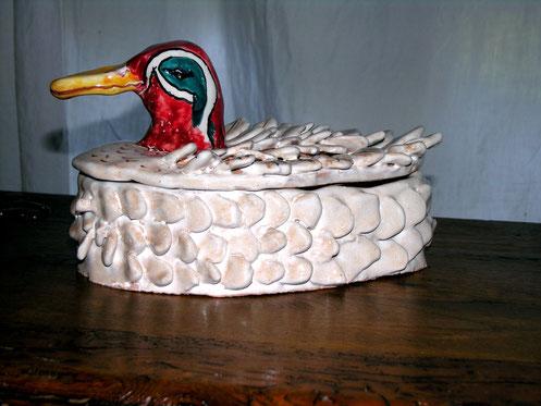 ceramica papera fatta a mano pezzo unico