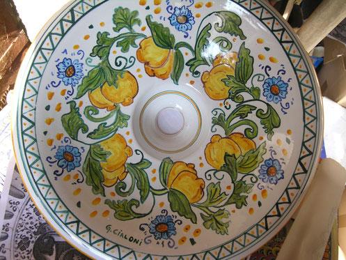 lampadario ceramica artistica