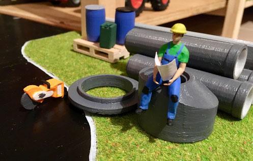 MKD-Figurenland, Baustelle und Baumaschinen