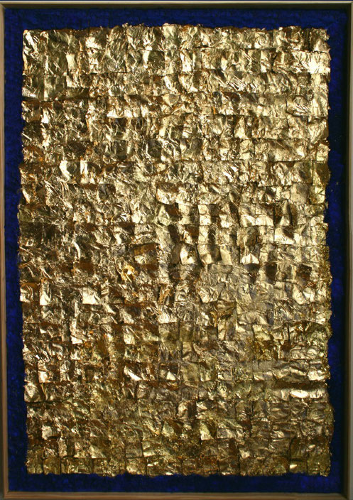 """""""Bizanţ I"""", tehnică mixtă, 101 x 71 cm"""