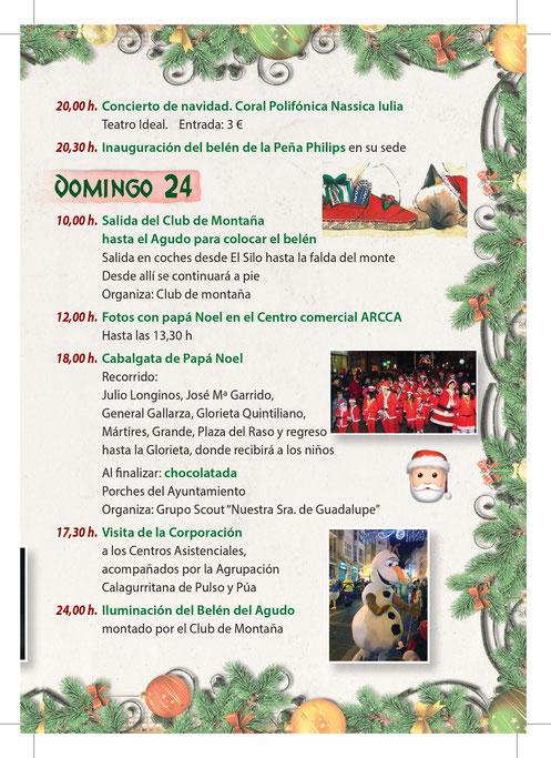 Navidad en Calahorra Programa