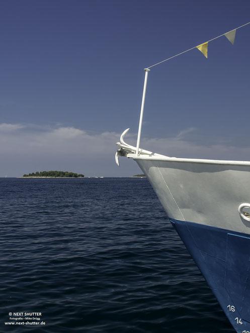 Urlaubsfeeling, aufgenommen im Hafen von Rovinj ......