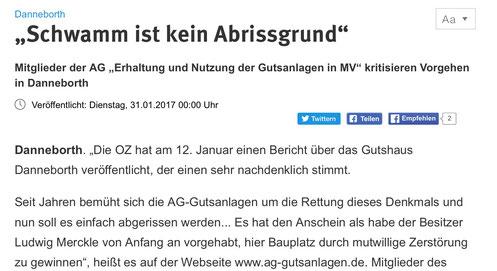 Zeitungsausschnitt der OZ vom 31.01.2017