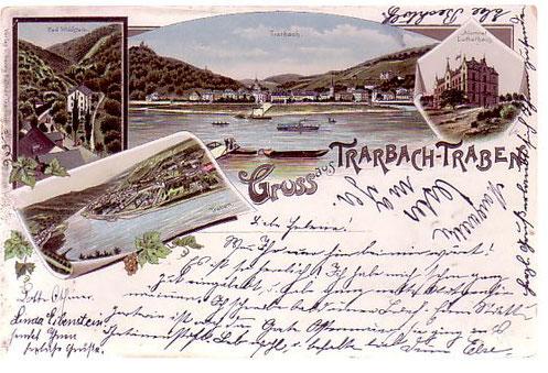 um 1900, oben rechts das Alumnat