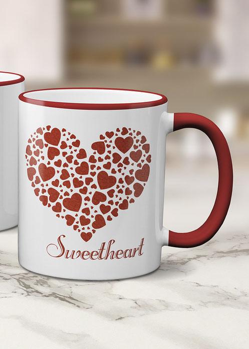 Tassengeschenke bedruckte Tasse Sweetheart