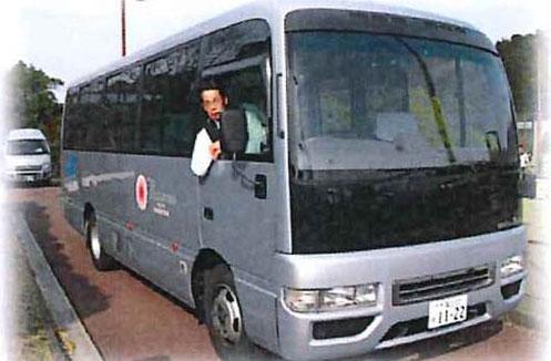 例)エストーレホテル様のマイクロバス運行中!