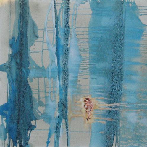 ohne Titel 100 x 100 cm, Urgesteinsmehl, Acrylfarbe, Lack, Ölfarbe