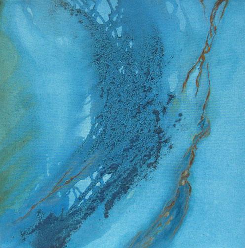 Aus der Reihe: Atelier Erde 70 x 70 cm, Urgesteinsmehl, Acrylfarbe, Lack