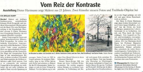 """Allgäuer Zeitung (""""Vom Reiz der Kontraste"""" / von Irmgard Rampp) vom 04. November 2016"""