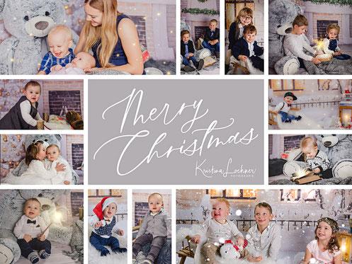 Kinder beim Weihnachtsshooting im Studio