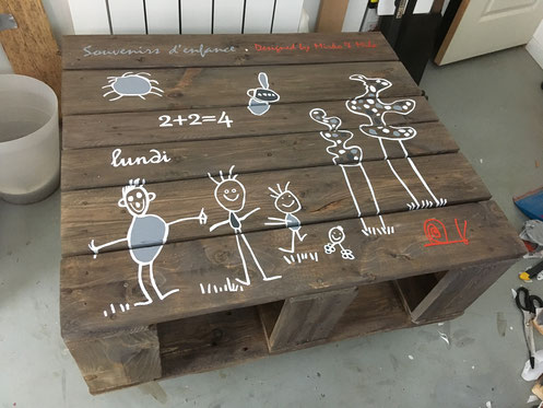table palette dessins enfants