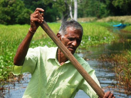 Lokale varende man in Sri Lanka dichtbij Sigiriya