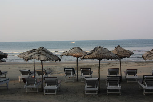 Ashvem Beach in Goa, India