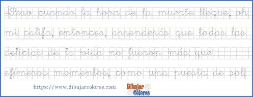 fábula para ejercicio de caligrafía