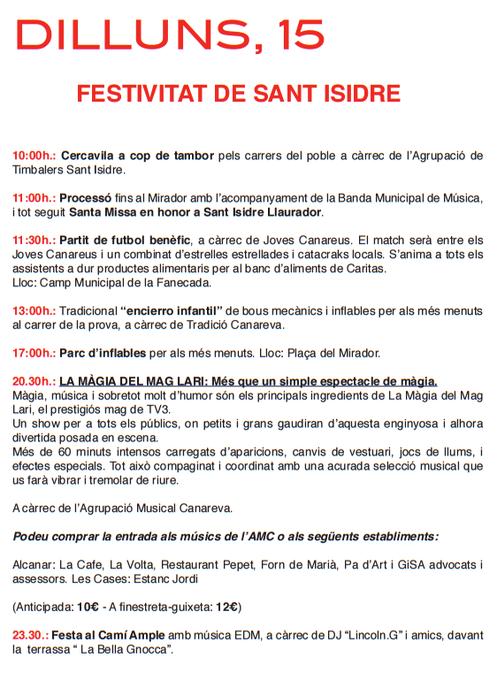 Programa de les Festes de Maig a Alcanar