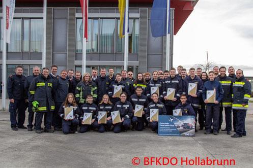 Feuerwehr, Blaulicht, BFKDO Hollabrunn, Brand, Grund, Scheune, Stroh, Weizenfeld