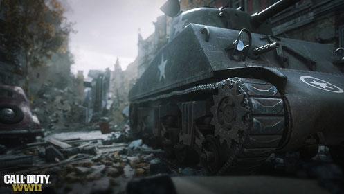 Die Einzelspieler-Kampagne in Call of Duty WW2 hält schweres Kriegsgerät aus der Epoche des Zweiten Weltkriegs für die Spieler bereit. Bilderquelle: Activision