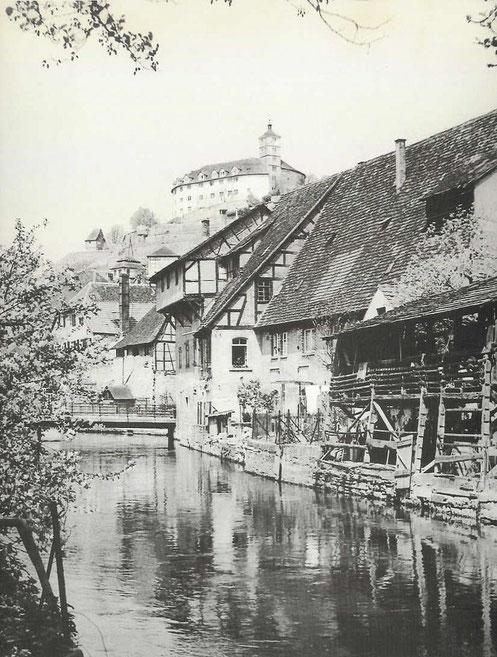 Ehemaliger (Unterwasser-) Mühlkanal der Wasserkraftanlage Burgmühle
