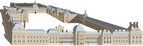 Château des Tuileries, vers 1870. (Source : Gilles Brémond)