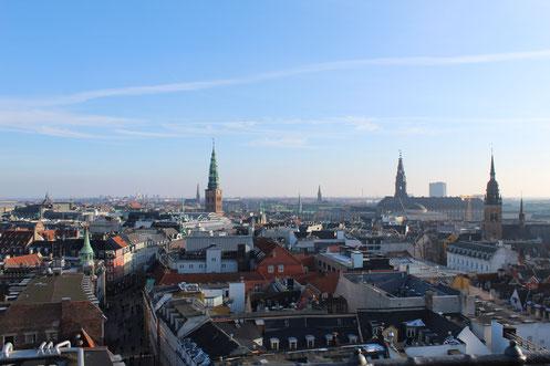 Blick über Kopenhagen vom Rundetårn aus