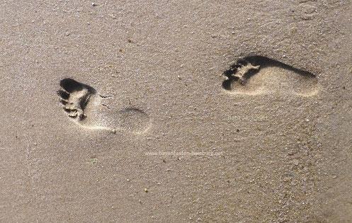 Sylt - Sand unter den Füßen, Copyright: Ilona M. Schütt, www.basenfasten-hamburg.net