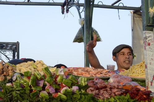 """""""marokkanischer Salat, Fisch, Spieße, Tagine- wir haben alles..."""""""