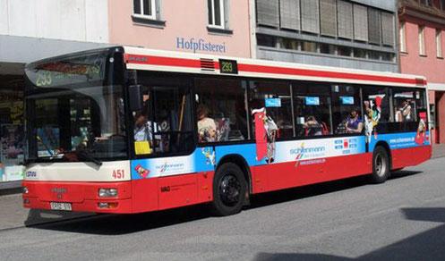 Busverbindung Maler Schienmann, Anfahrt Bernd Schienmann GmbH, Maler Erlangen