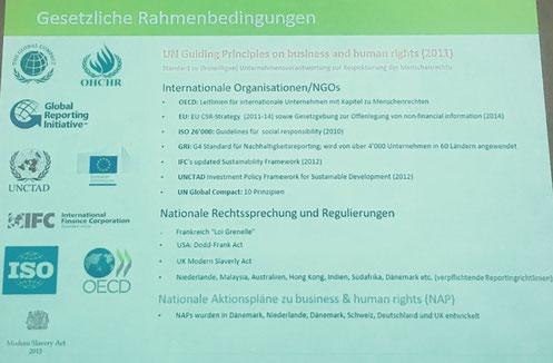 Gesetzliche Rahmenbedingungen, Nachhaltigkeit, Leitlinien, Standards, Regulierung
