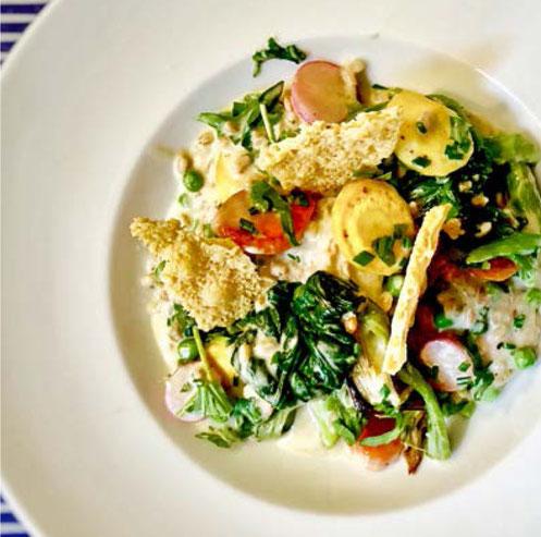 Raffiniert: Graupenrisotto mit Gemüse. Dazu ein Silvaner aus Franken.