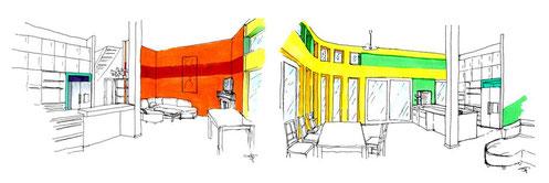 Raumkonzept für Haus und Wohnung