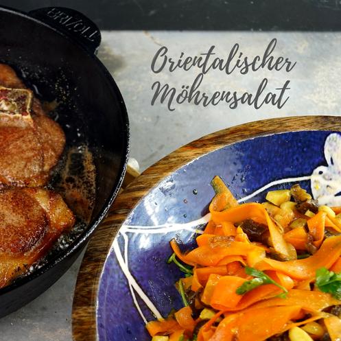 Karottensalat mit Mandeln und Datteln