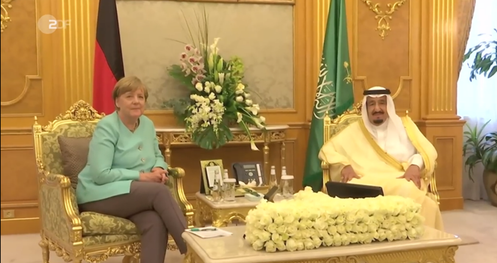 30.04.2017 – ZDF Heute Journal 21:45 Uhr Merkel in Saudi-Arabien
