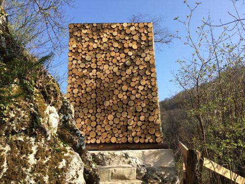 Der Holzstoss des Eremiten, 2017 erneuert