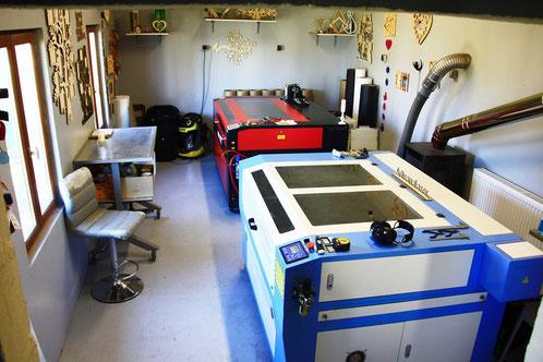 Atelier de découpe et gravure laser