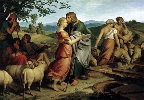 ヨーゼフ・フォン・フューリヒ『ラケルとその父の羊の群れと出会うヤコブ』(1836年)