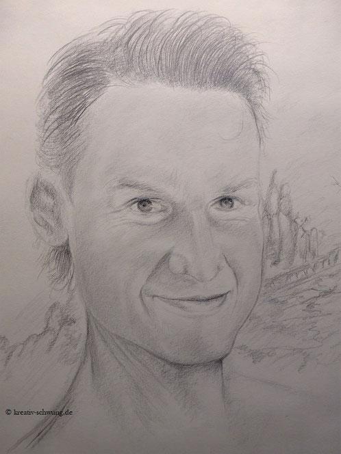 Das Porträt eines jungen Mannes, Bleistift 2019