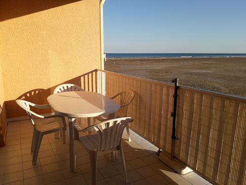 Appartement à Gruissan Les Ayguades - vue mer du balcon