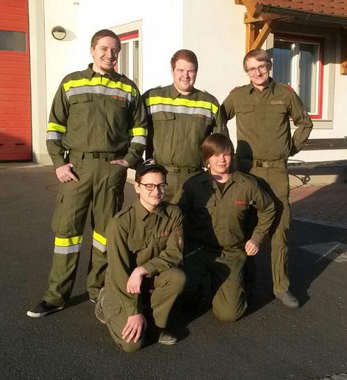 Feuerwehrkameraden der FF Hainersdorf bei der Abschnitts-Funkübung in Kroisbach