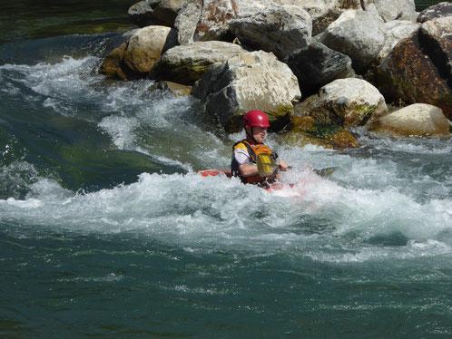 Juli 2017, Wildwasserfahren auf der Möll kann auch mit 80 noch Spaß machen