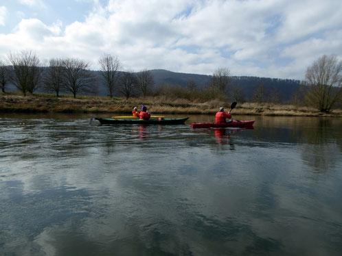 Osterfahrt auf der Weser von Hann.Münden nach Weißehütte