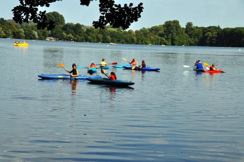 31. August 2016, Anfängertraining auf dem Wambachsee