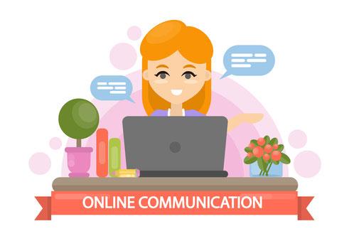 Illustration Kommunikation Chat Social Media