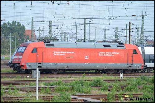 101 015-6 steht am 28. Mai 2016 in Leipzig Hbf.