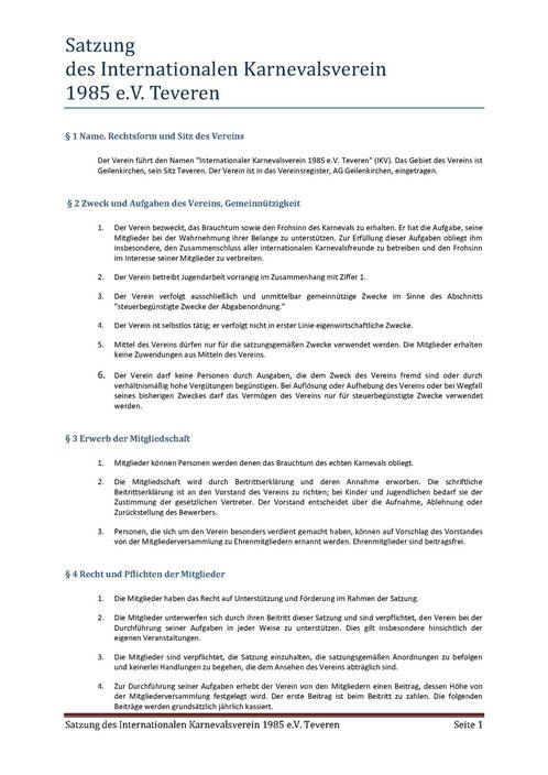 Satzung IKV Seite 1 von 5