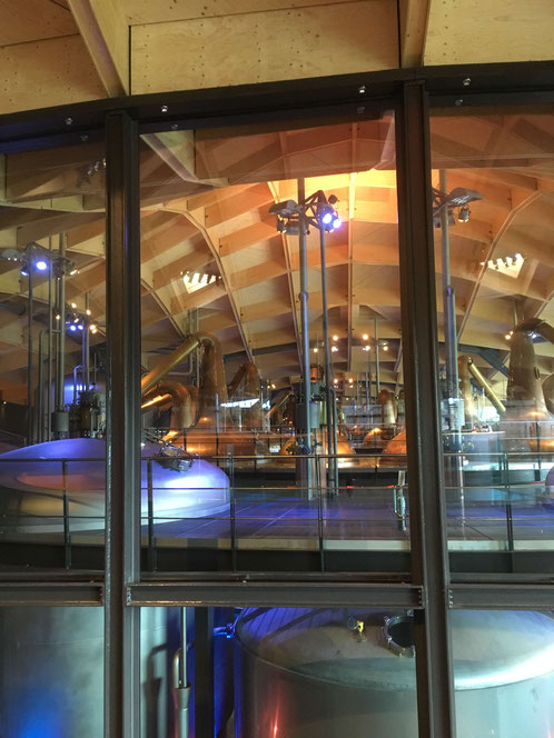 View into Macallan Distillery