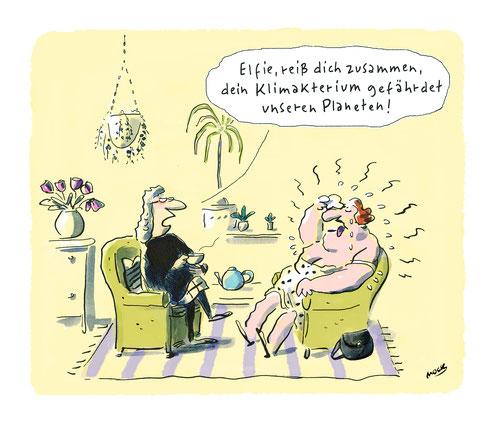 Cartoon von Mock zum Thema Klimawandel