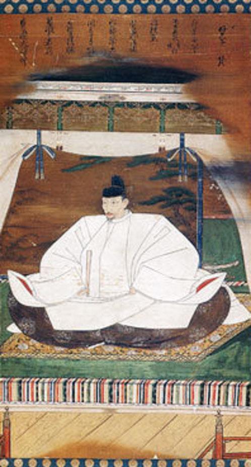 ESTAMPE DE TOYOMI Hideyoshi (1536 -1598) l'un des 3 unificateurs du Japon pour lequel sa veuve fit construire le TEMPLE KODAI-JI. C* Wikipedia