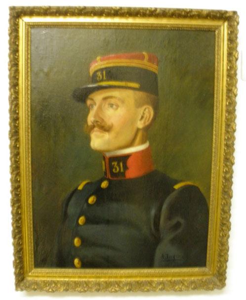 1911. PORTRAIT D'UN JEUNE LIEUTENANT DU 31 RI par André  JOYEUX.  ..C*   LE GAULOIS de MELUN www.lagrandeguerre.forum.net