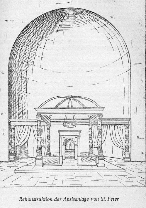 Apsis der konstantinischen Peterskirche